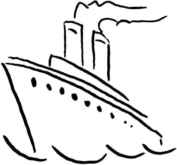 free clip art cartoon cruise ship - photo #39