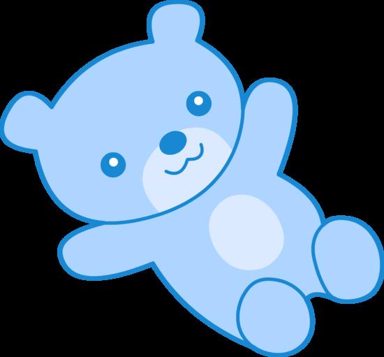 Cute Blue Teddy Bear Clipart  Free Clip Art