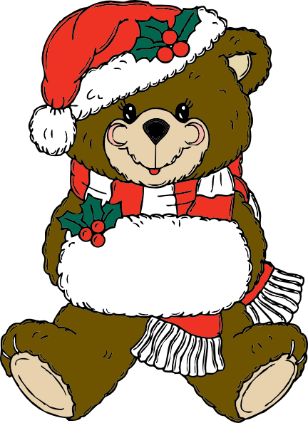 Christmas Bear clip art Free Vector / 4Vector