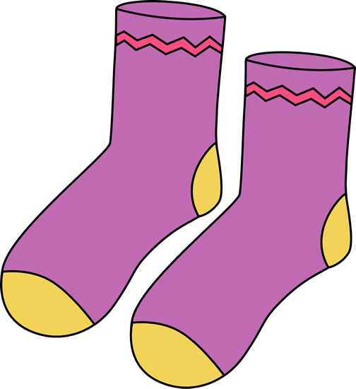 Purple Pair of Socks Clip Art - Purple Pair of Socks Image