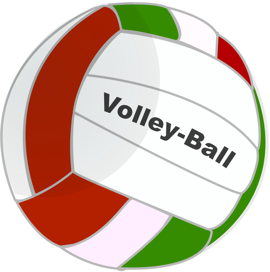 volleyball spike announcement clipart vector clip art