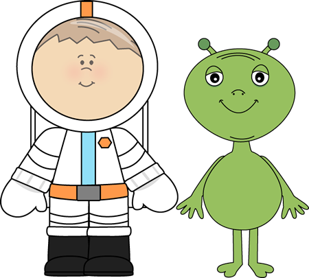 Alien and Astronaut Clip Art - Alien and Astronaut Image