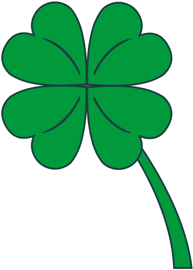 Four leaves clover Clipart, vector clip art online, royalty free ...