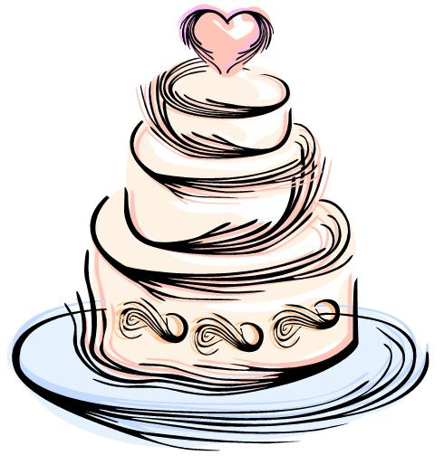 Black And White Wedding Cake Clip Art | Clipart Panda - Free ...