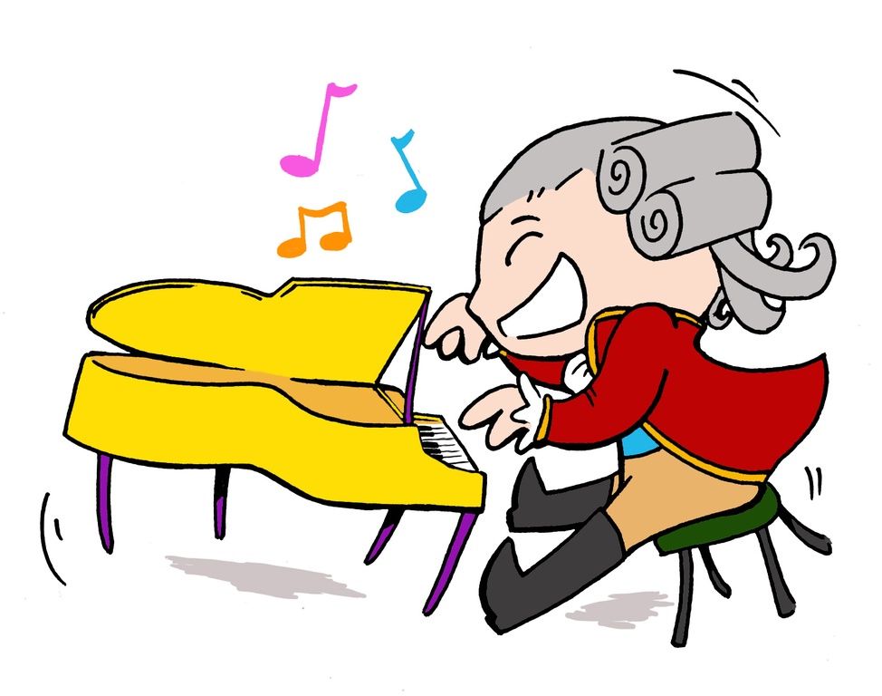 clipart girl playing piano-#48