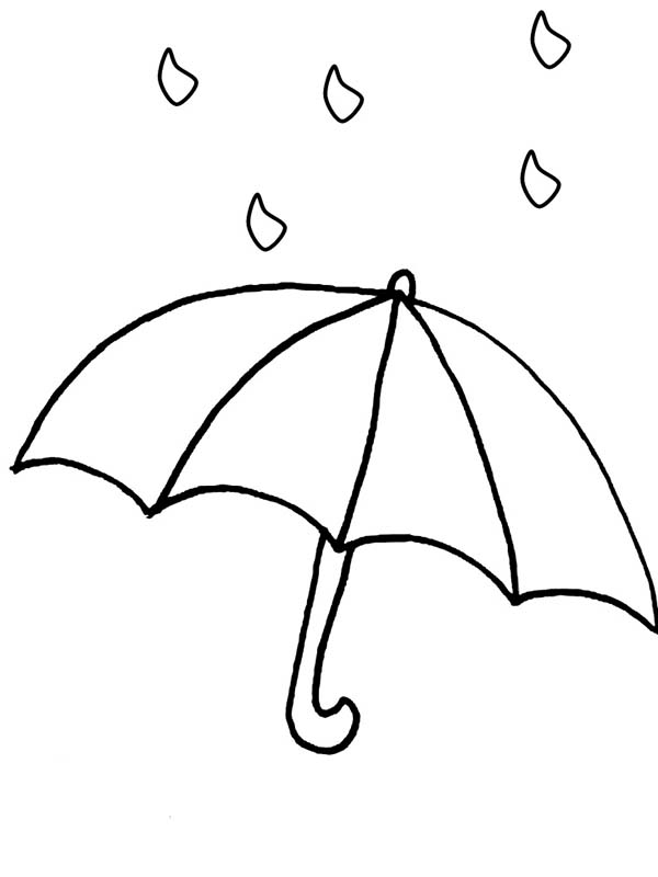 Free coloring pages of a raindrop