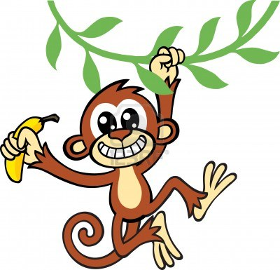 Monkey With Banana Cartoon | Clipart Panda - Free Clipart Images