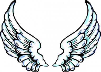 Angel Wings Clip Art image - vector clip art online, royalty free ...