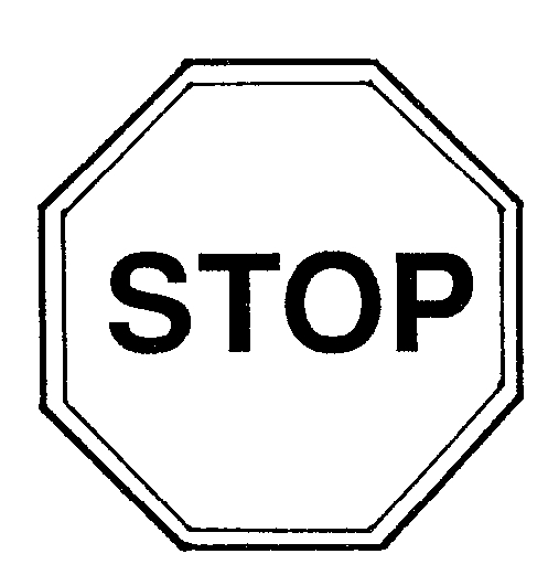 Stop Sign Clip Art Black And White - Cliparts.co