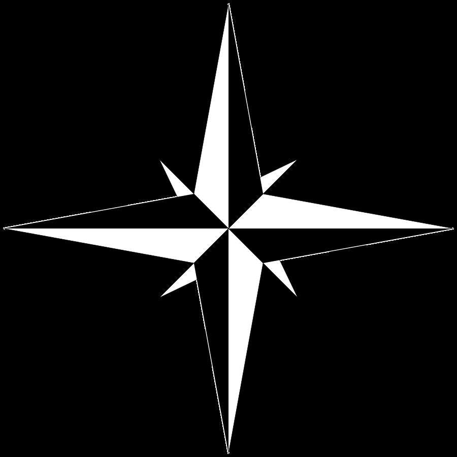 compass black white clipart