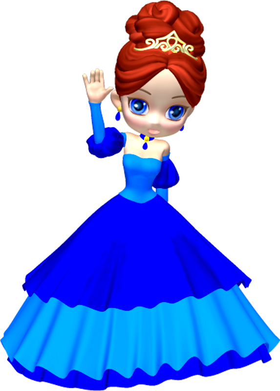 Princess in Blue Poser PNG Clipart (3) by clipartcotttage on ...