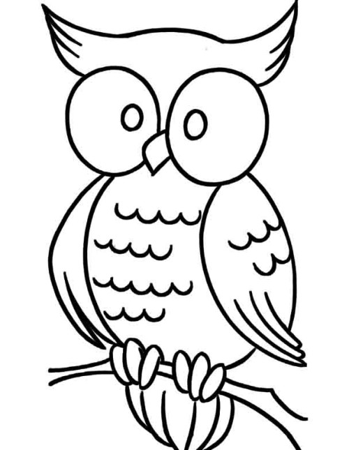 cartoon owls coloring pages - photo#16