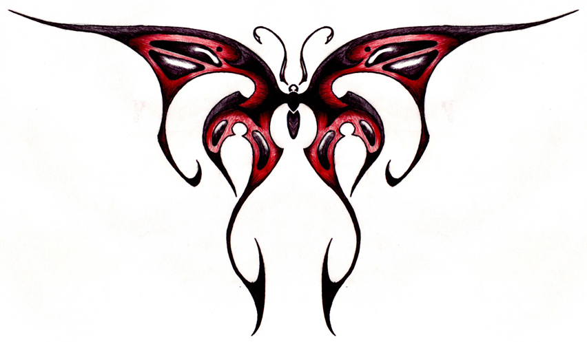 Tribal Butterfly Side view by Ashes360 on deviantART