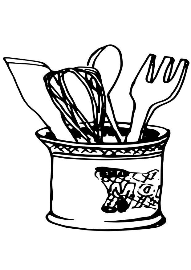baking tools coloring page