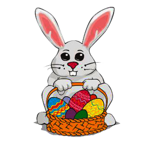 Easter Bunny With Eggs Clipart | Clipart Panda - Free Clipart Images