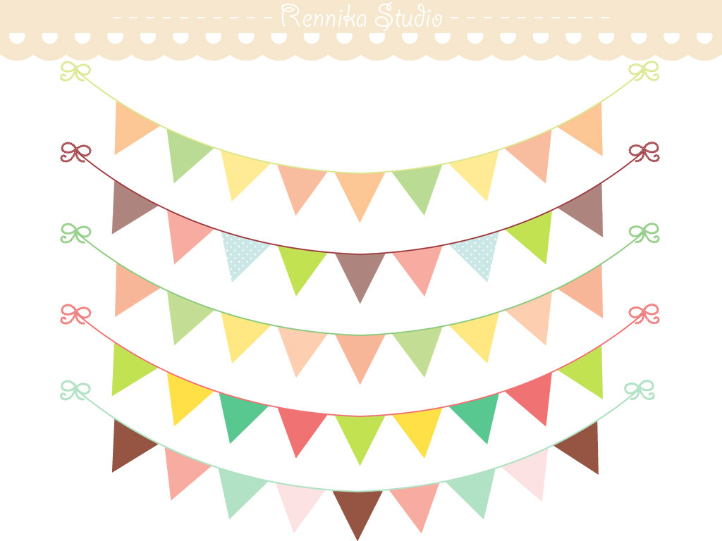 Popular items for bunting clip art on Etsy
