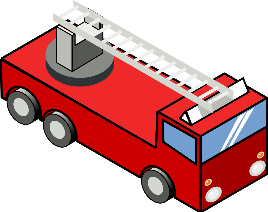 Iso Fire Engine Clipart, vector clip art online, royalty free ...