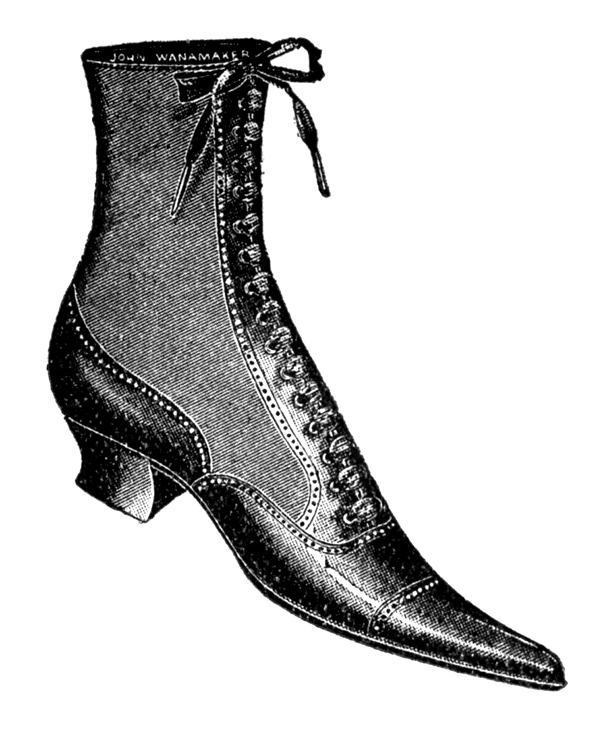 Old Fashioned Shoes Drawing