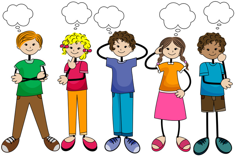 The Best Child Thinking Cartoon Image PNG