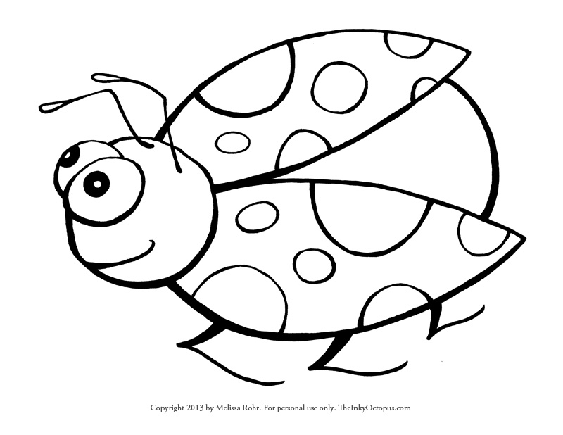 Ladybug Outline - Cliparts.co