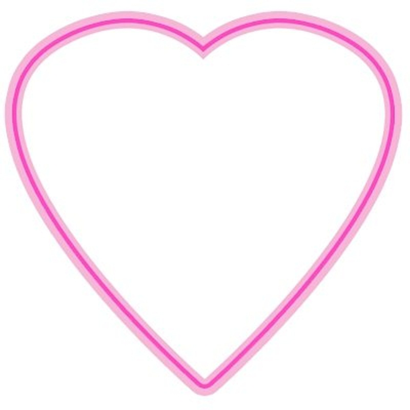 beautiful pink heart template frame to print and color coloring