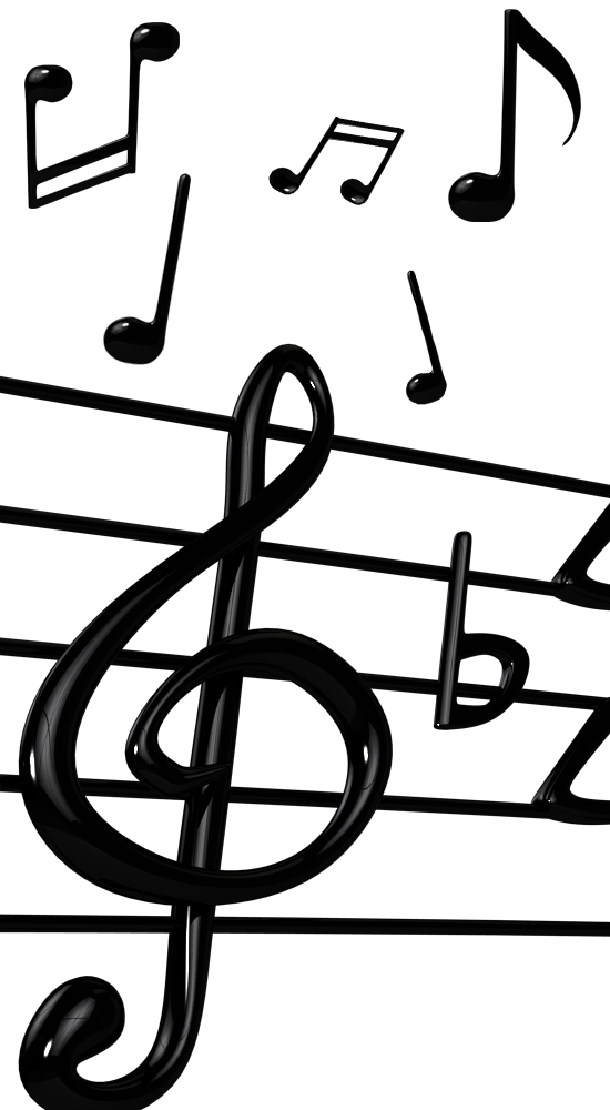 Free 3D Music Notes & Musical Elements PNG Renders Download