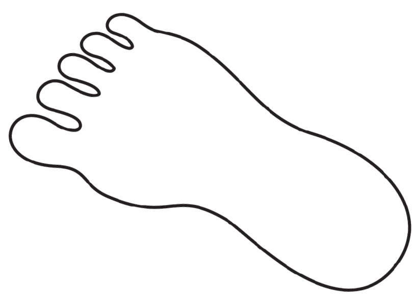 Feet outline clip art