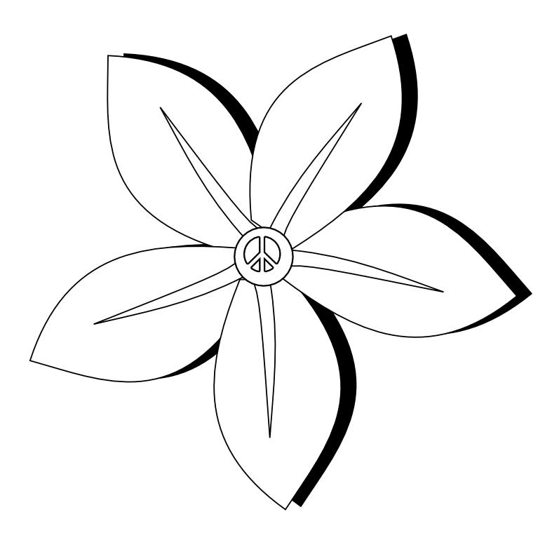 Line Drawing Unicode : Flower tattoos black and white cliparts