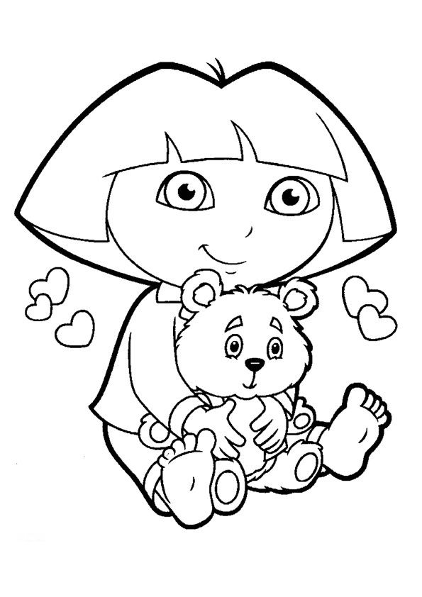 Printable Dora The Explorer Coloring Pages For Kids ...