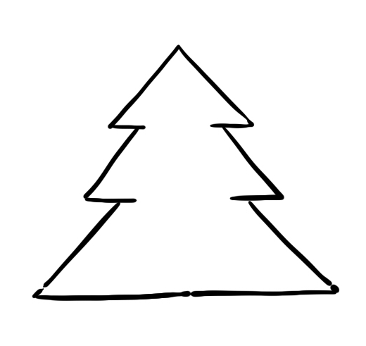 Line Drawing Xmas Tree : Christmas tree line drawing cliparts