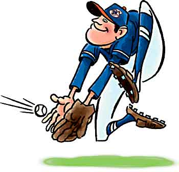 baseball game clipart