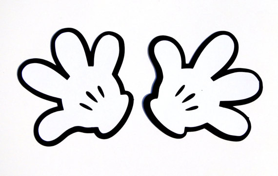 Mickey Mouse Glove Silhouette Die Cut Disney's by CollectandDesign