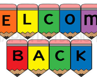 welcome back signs cliparts co