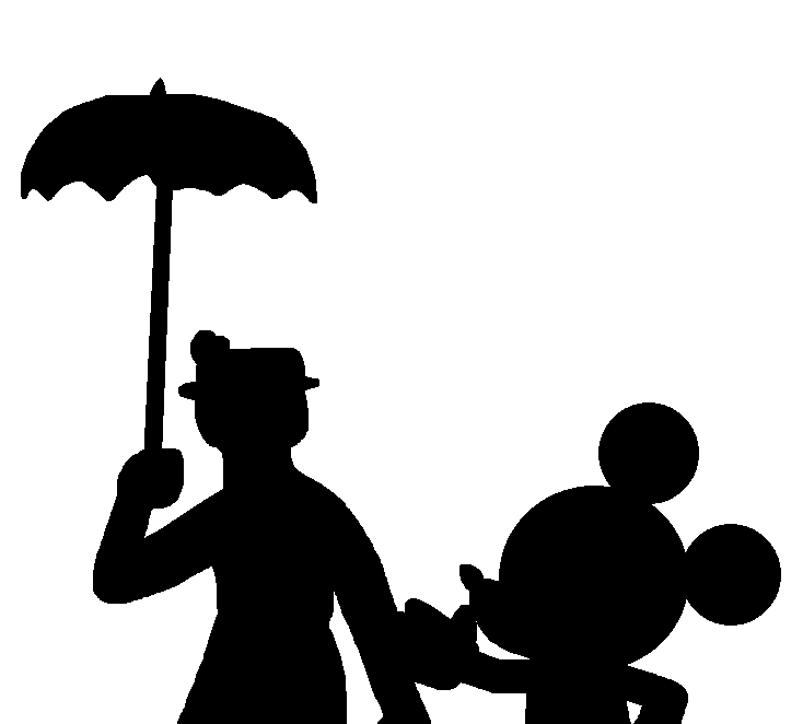 Mary Poppins and Mickey Mouse Silhouette by ElMarcosLuckydel96 on ...