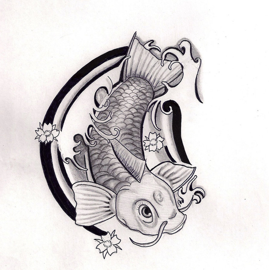 Black Koi Fish Tattoo Meaning Images Cliparts Co