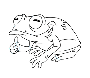 how to draw a red eyed tree frog easy