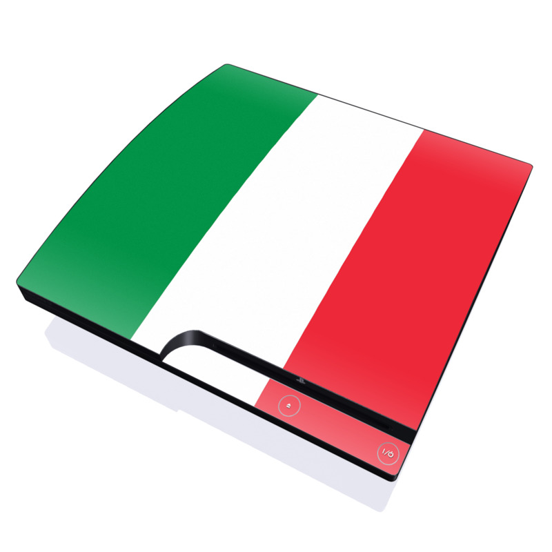 Italian Flag PlayStation 3 Slim Skin - Covers Sony PlayStation 3 ...