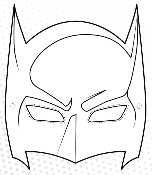 coloring pages batman printable template - photo#6