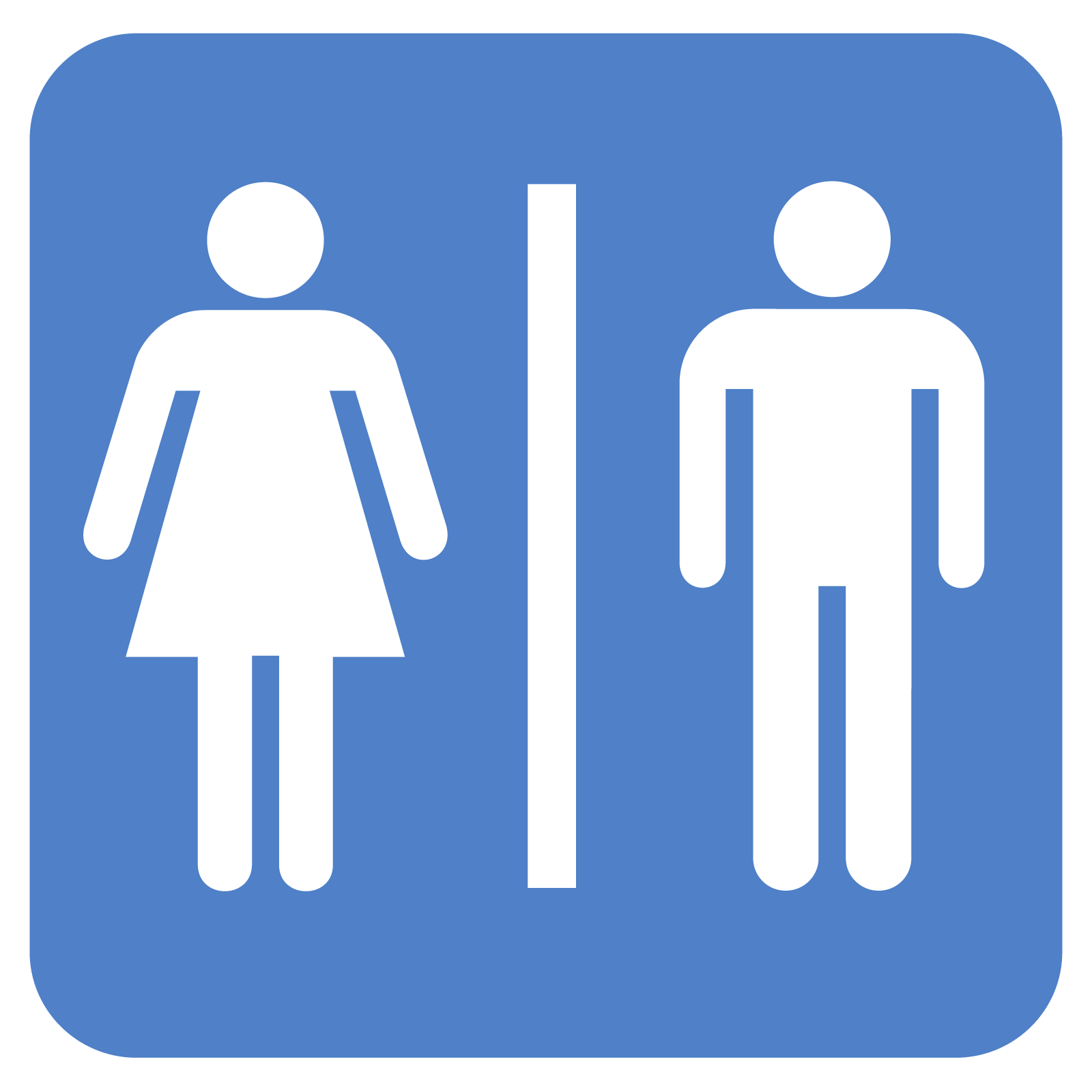 Men And Women Bathroom Sign - ClipArt Best