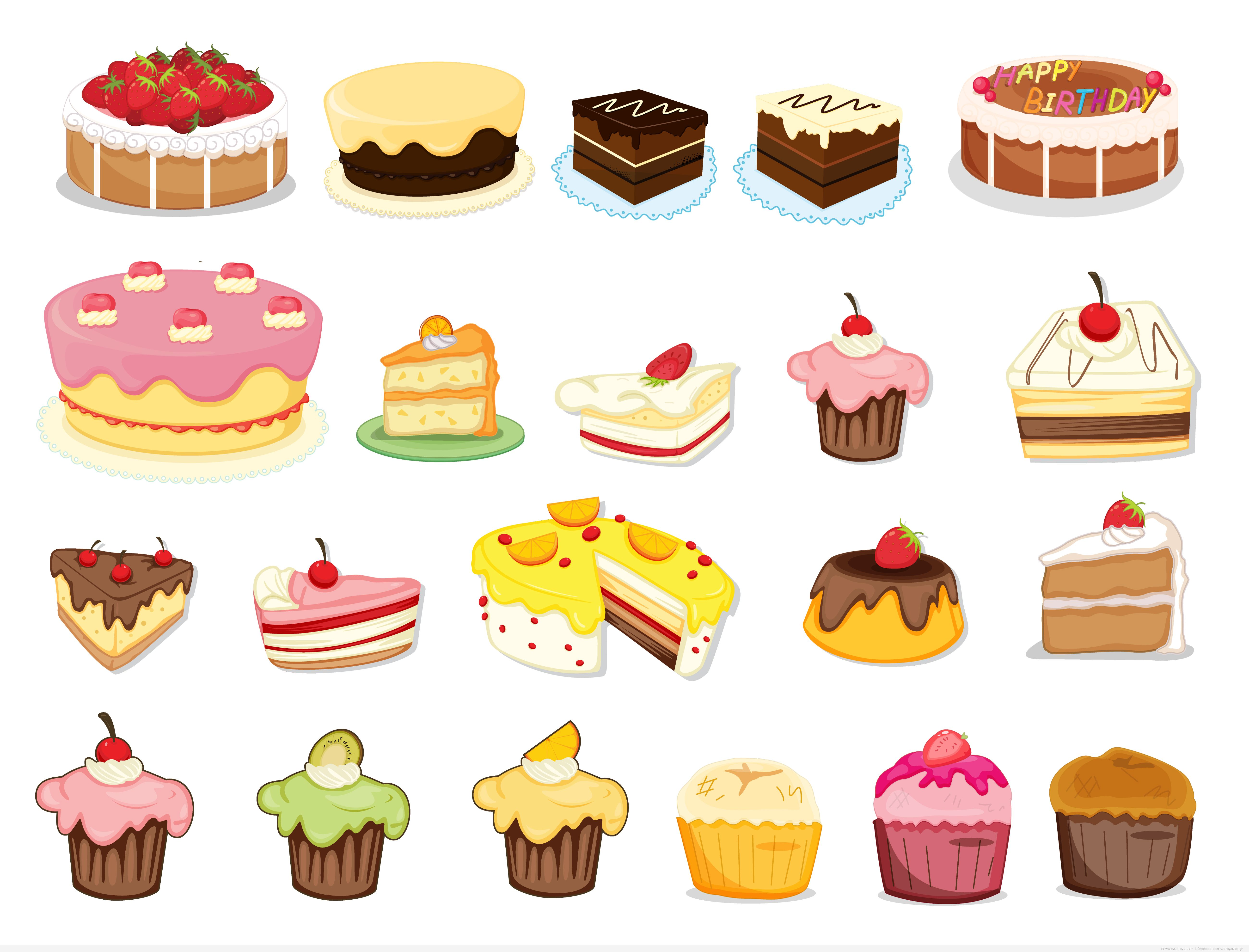 Cake Pictures Vector : Free Cake Vector - Cliparts.co