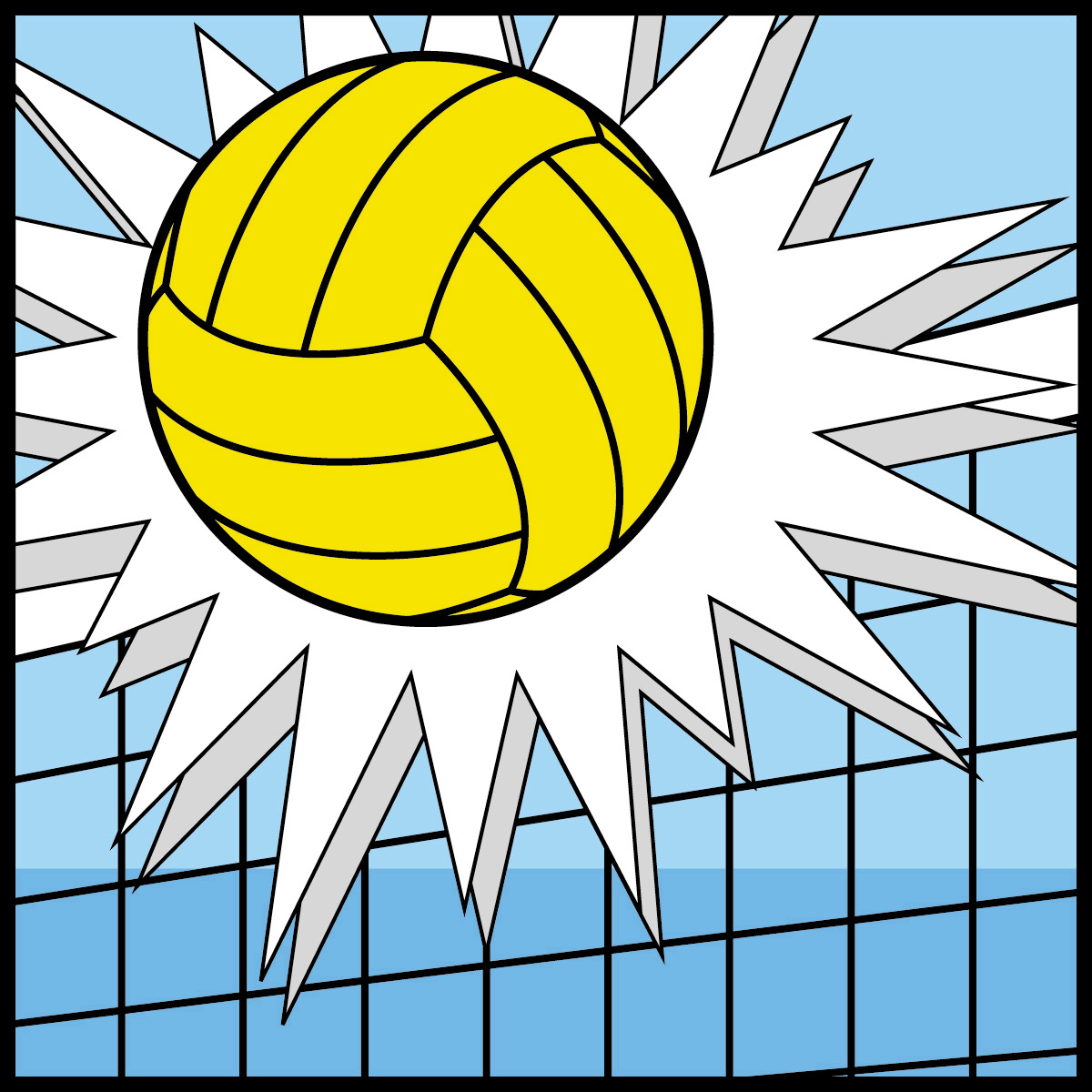 Free Volleyball Clipart Black And White | Clipart Panda - Free ...