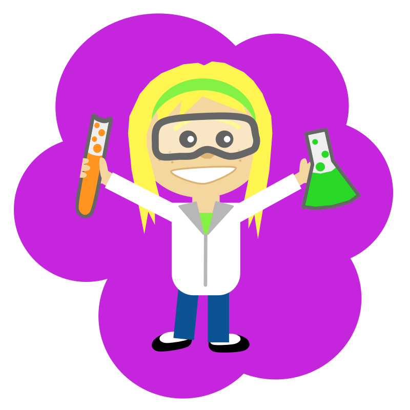 Clipart - Science Girl