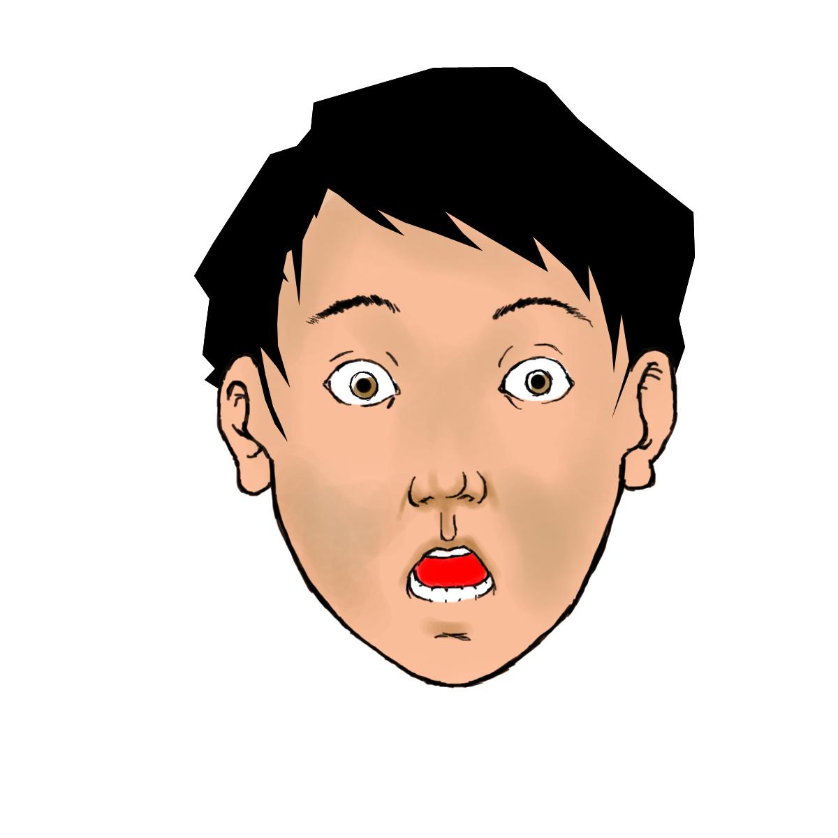 Shocked Face Cartoon - Cliparts.co