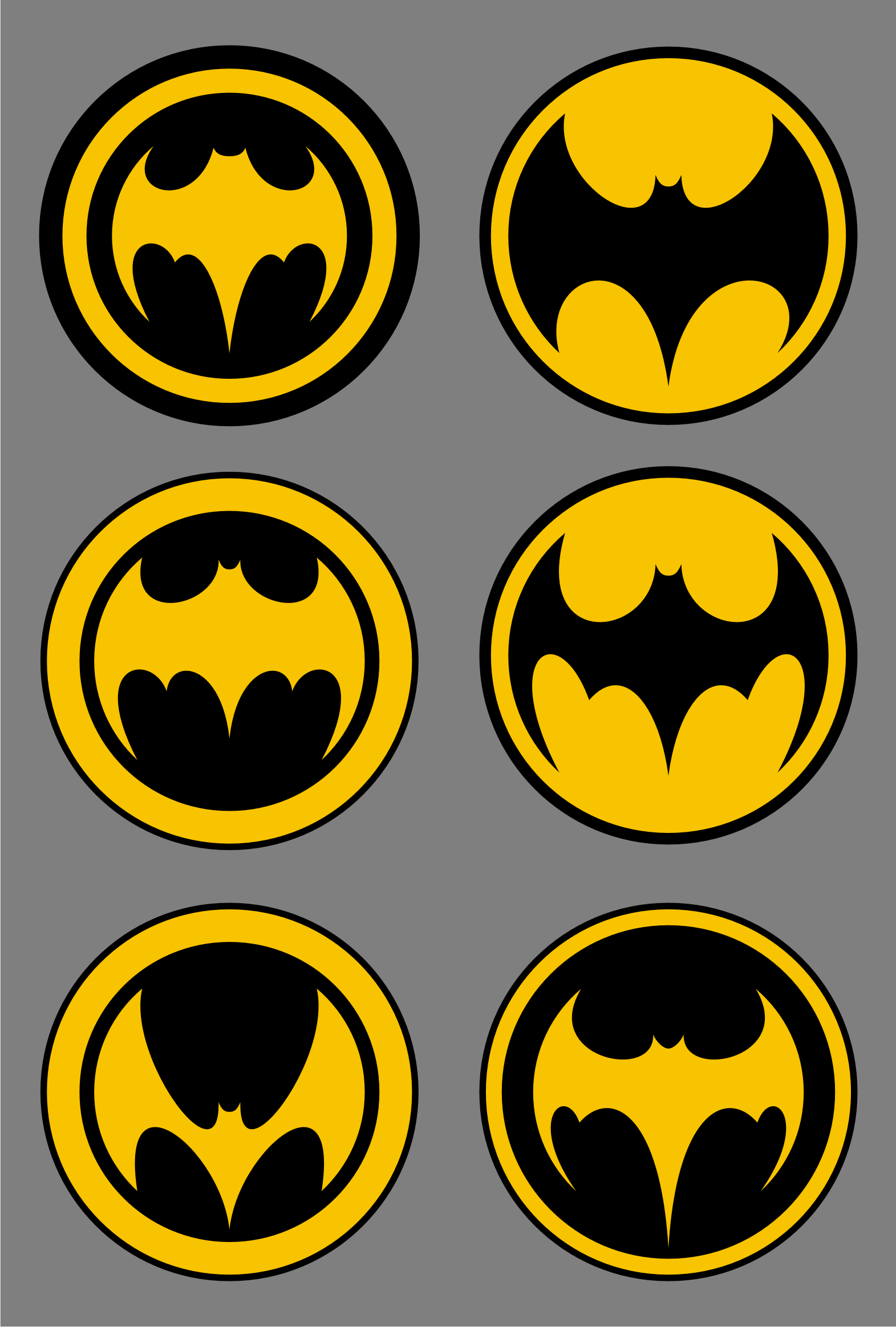Batman Logos and Batman fan art