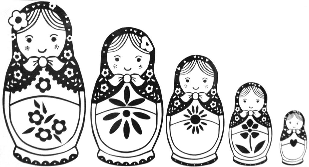 Russian nesting dolls template
