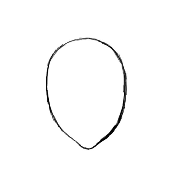 Image Gallery human face outline