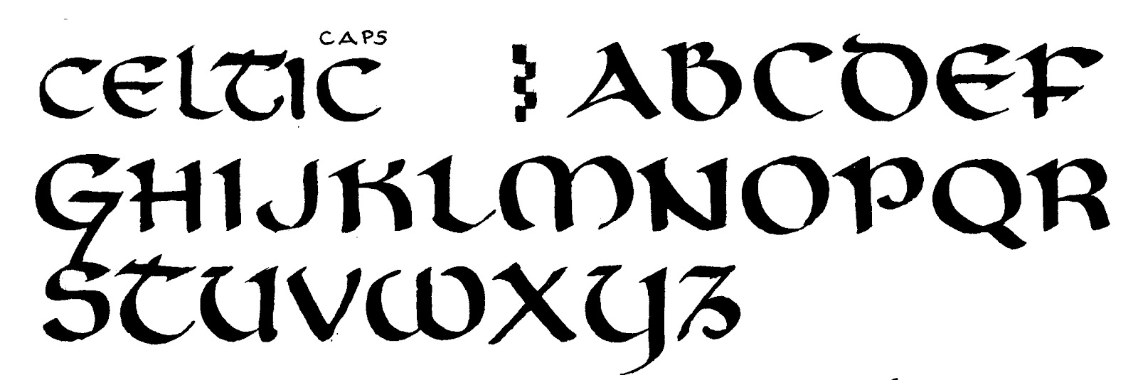 Celtic Lettering Alphabet