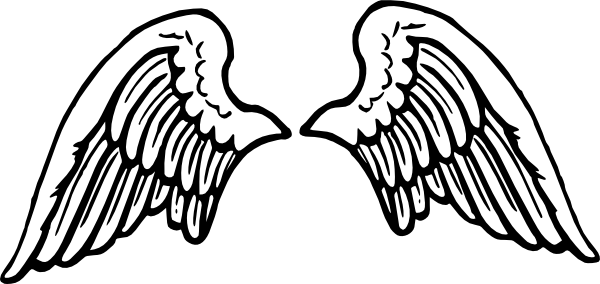 free angel wings with halo clip art - photo #9