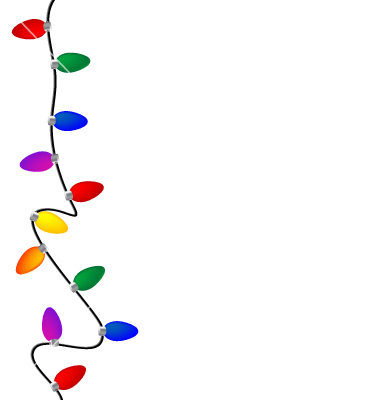Christmas tree lights clipart Christmas Tree Border Clip Art Free