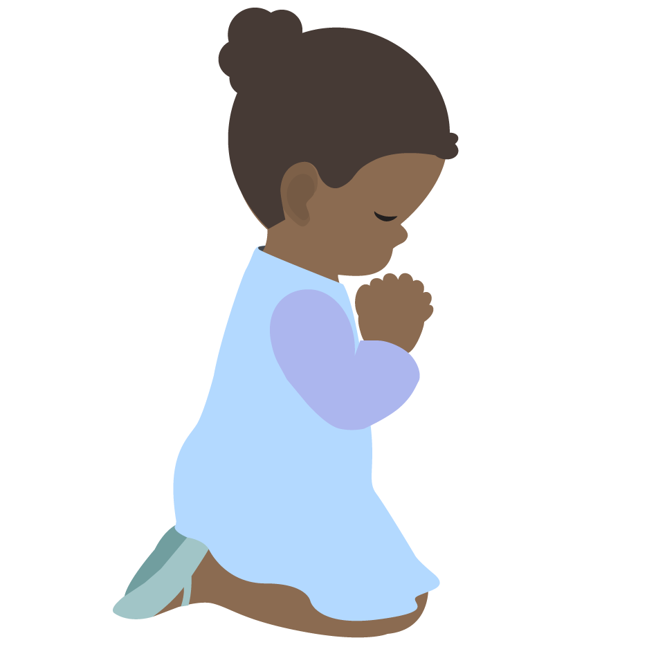 children praying clipart - photo #8